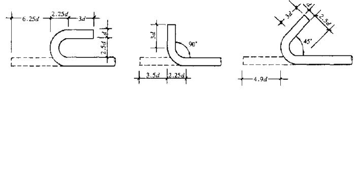 钢筋计算中各种度数的弯钩都应怎么取值