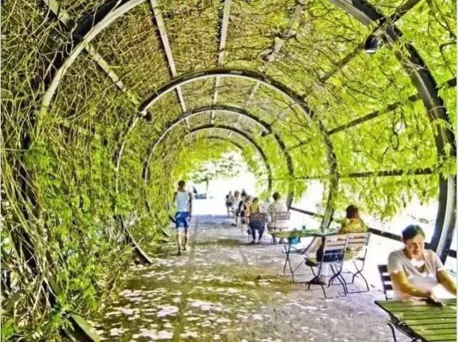 什么是景观廊架?廊架就是以木材、竹材、石材、金属、钢筋混凝土为主要原料添加其它材料凝合而成。供游人休息、景观点缀之用的建筑体,与自然生态环境和谐搭配。廊架可应用于各种类型的园林绿地中,常设置在风景优美的地方供休息和点景,也可以和亭、廊、水榭等结合,组成外形美观的园林建筑群;在居住区绿地、儿童游戏场中廊架可供休息、遮荫、纳凉;用廊架代替廊子,可以联系空间;用格子垣攀缘藤本植物,可分隔景物;园林中的茶室、冷饮部、餐厅等,也可以用廊架作凉棚,设置坐席;也可用廊架作园林的大门。