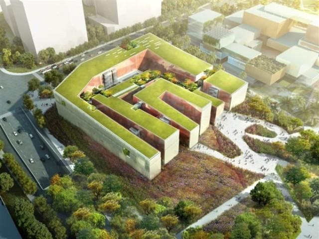 广州文化设施设计国际竞赛方案(三馆一场)