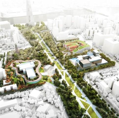 广州文化设施设计国际竞赛方案(三馆一场)  城市规划图片