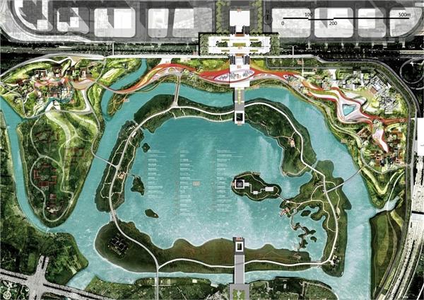广州文化设施设计国际竞赛方案(一馆一园) |城市规划