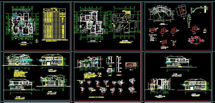 全套别墅建筑结构施工图纸