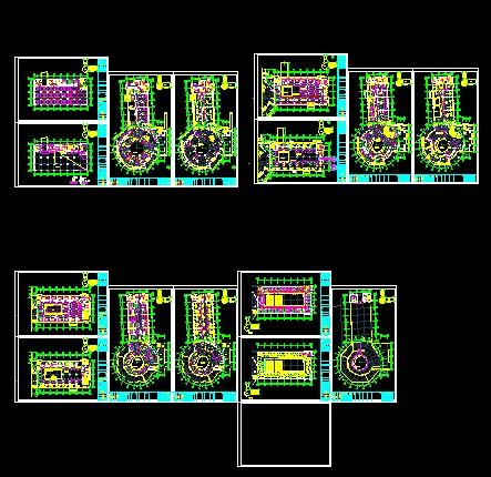 科技馆类的电气原理图,控制信号流程图以及接线图