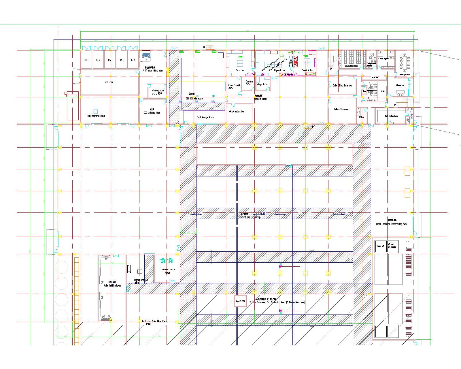 如下的平面图和手绘截面图,上半部分是混凝土的2层框架办公楼,下半部分是一个钢结构厂房,中间是一个3层的钢框架平台,有一个大罐子30t重,左右搭个门式刚架,请教一下这种钢结构形式可行么? 本人本打算把这个钢框架平台与主厂房脱开,但是业主强烈反对,觉得这样要起个小炮楼,多立个柱子,坚持要把平台和厂房连到一块。