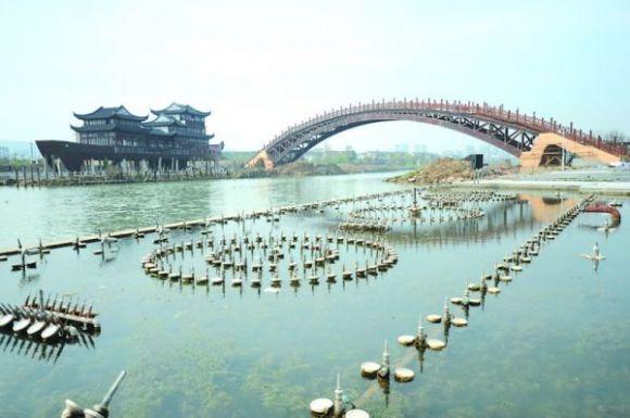 世界最大跨度木拱桥 单跨跨度75.7米