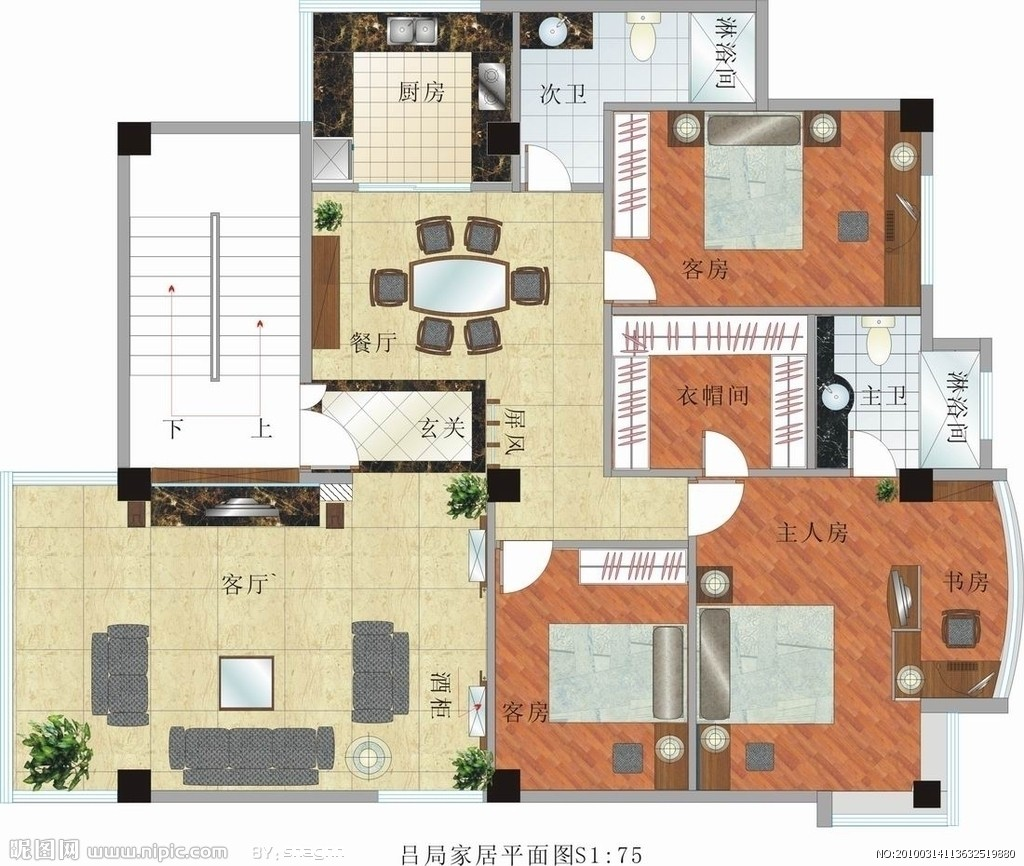 室内装修平面图及立面图 循环水施工人气[513] 工装水电图?