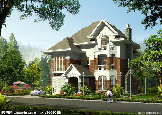 急求一套15米*14米三层欧式别墅效果图及施工图
