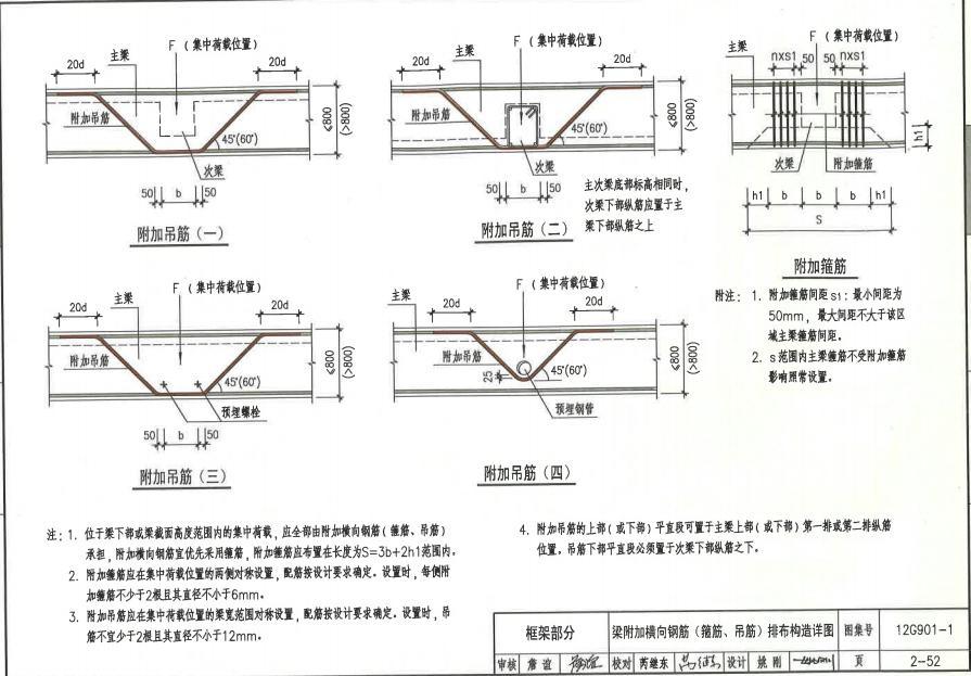 框架柱箍筋加密标准