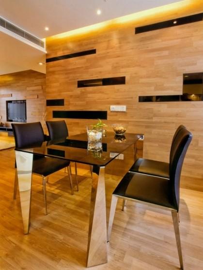 木地板做成墻飾面板效果如何?