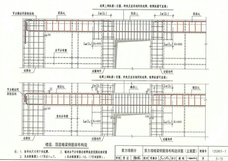 1混凝土结构施工钢筋排布规则与构造详图(现浇混凝土框架,剪力墙,梁