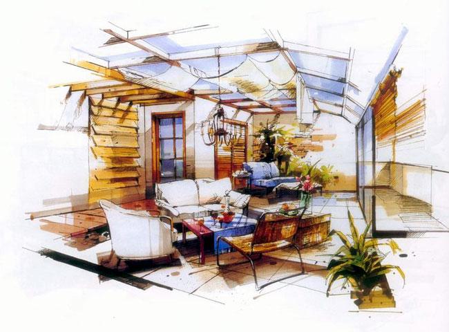 马克笔表现—沙沛手绘 |建筑表现与制图/手绘|讨论