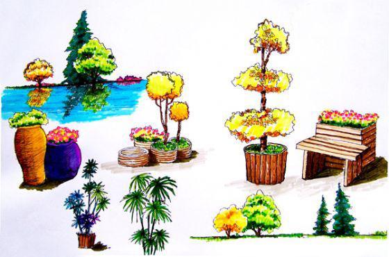 景观小品手绘(马克笔) |建筑表现与制图/手绘|讨论
