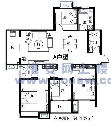 房屋建筑学课程设计图一梯两户图片