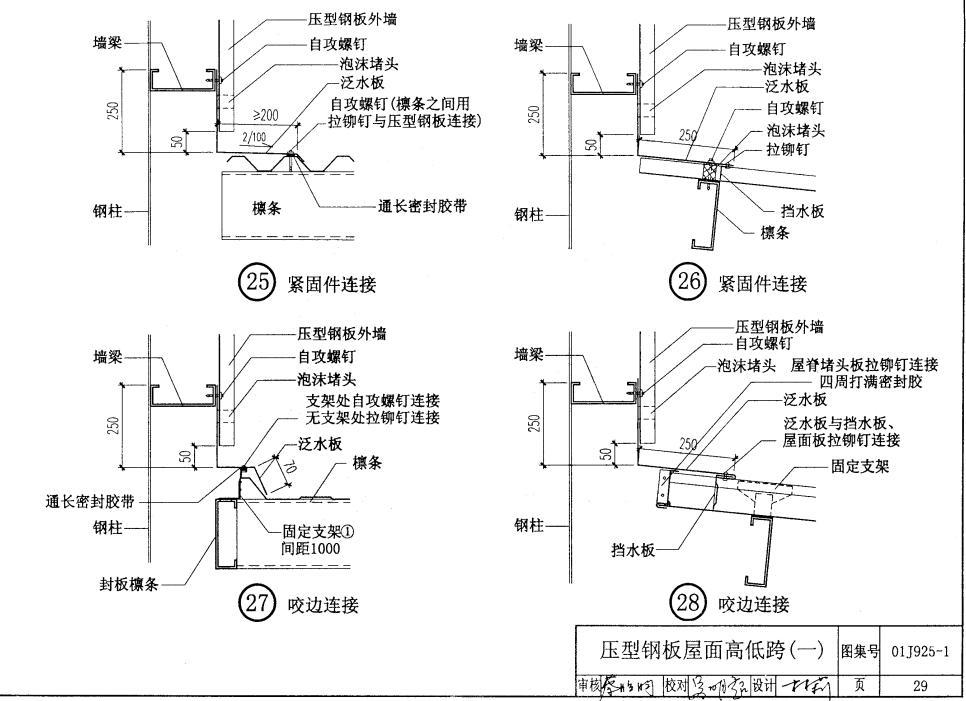 高低跨压型钢板的设计方法?图片