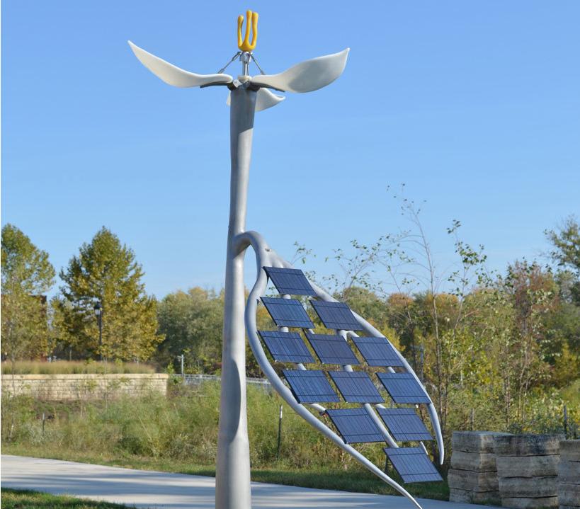 太阳能仿生雕塑路灯图片