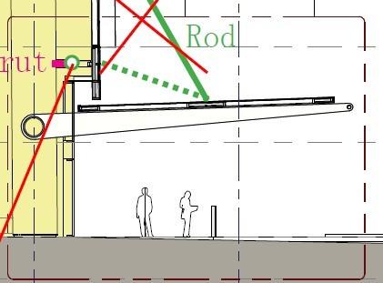 与主体结构柱相连的雨棚,按设计说明,还不打算使用拉杆,11米纯悬挑.